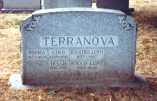 Grave of Ciro Terranova and Lupo Saietta.