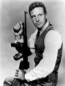 Robert Stack as Eliot Ness in the serie 'The Untouchables' 1950s - 1960s