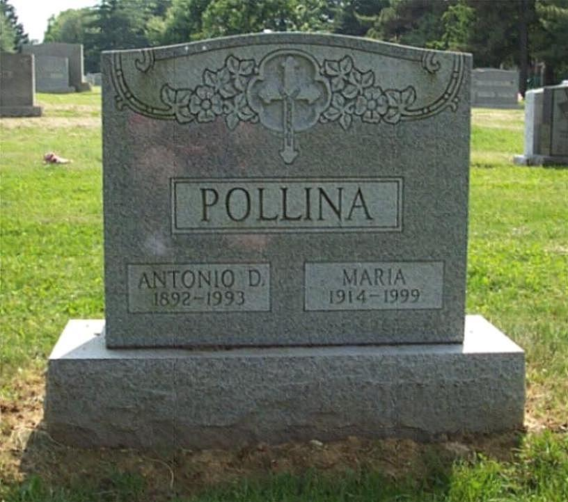 The grave of Antonio Pollina and his wife.