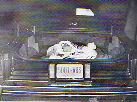 Roy DeMeo dead in the trunk of a car.