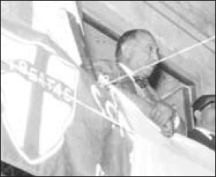 Giuseppe Genco Russo at a Christian - Democratic party-rally.